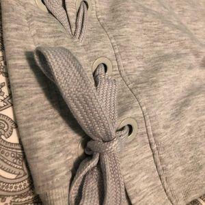 90 Degree By Reflex Tops - Gray sweater/sweatshirt